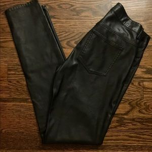 H&M Faux Leather Pants